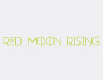 Red Moon Rising - Animated Font