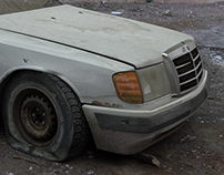 Abandoned Mercedes
