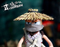 "Stop-motion Animation ""J-swordsman"" Character"
