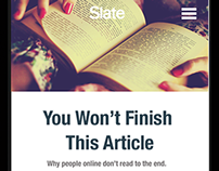 Web Design: Slate article redesign