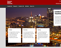 Web Design: CMU Website redesign