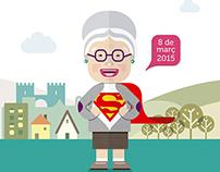 Cartell Dia Internacional de la Dona 2015, València