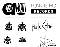 ANA Moth / Punk Ethic Records Logos