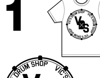 Vic's Drum Shop t-shirt (Vic Ferth)
