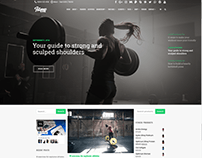 Blog Dual Sidebars - Fitness WordPress Theme