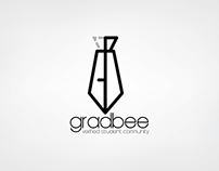 "Logo for a website called ""GradBee"""