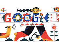 Google Doodle for Celebration of Embroidery Shirt Day