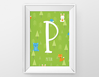 Baby Nursery Forest Monogram