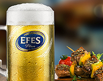 EFES Pilsen Glass and Food Photo Shoot
