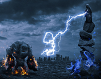 Golem vs Wizard