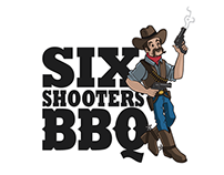 Six Shooters BBQ Logo