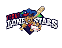 Texas Lonestars Little League Baseball Logo