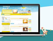 Wordpress Blog template المدارس المنتسبة قالب ووردبريس