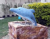 Handmade Dolphin Sculpture