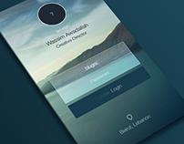 App Login Design & Mockup