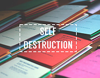 Self Destruction | Research Book Designs