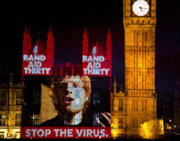 Band Aid 30 Projection - London - Houses of Parliament