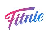 Fitnie. Logo for a fitness app