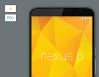 Freebie - Vector Nexus 6 Model Mockup