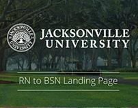 Jacksonville University Landing Page