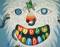 Animated yeti holiday card