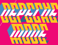 Depeche Mode typographic experimentation