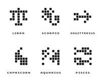 pixel zodiac signs