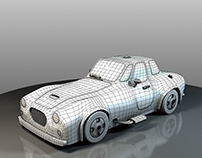 cartoonyRoadSter_wireFrame