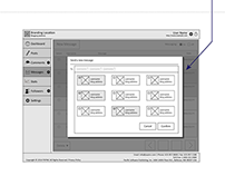 Blogging system admin panel wireframes