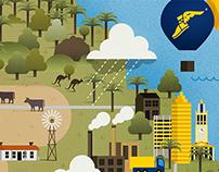 Goodyear Australian Industry Services Illustration