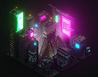 Blade Runner Voxel City