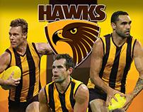 AFL Hawthorn Hawks Polyart