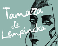 Ink portraits of Tamamra de Lempicka acts in my style
