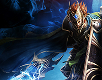 Chaos Heroes Online Landing Page | Good and Evil