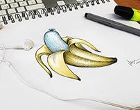 Weißwurst Banane