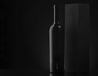Free Black Wine Bottle Mock-Up