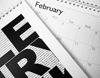 Calendar as artwork, gallery, and as calendar
