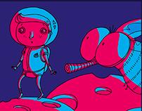 BD : Les aventures de Chiron Man et sa mouche