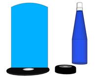 Water Bottle Display SketchUp