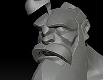 Cartoon 3D head 2