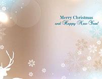 Free Vector Merry Christmas starflake pattern backgroun