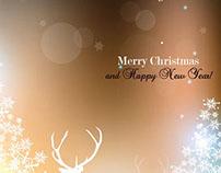 Free vector elegant reindeer with starflake pattern bac