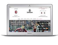 Ac Milan Website redesign