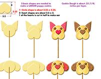 Valentine's Day Puppy Love Cookie Product Development
