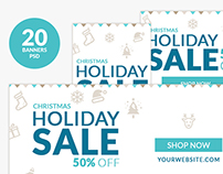 Christmas Holiday Sale Web Ad Marketing Banners