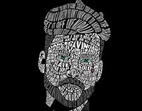 Jonny Craig Typography Portraits
