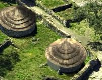 Digital reconstruction of a prehistoric village