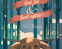 Happy Christmas (God Jul). Christmas card for my job.