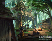 Environment art for a card game