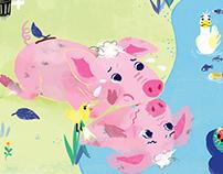 A pig's kiss